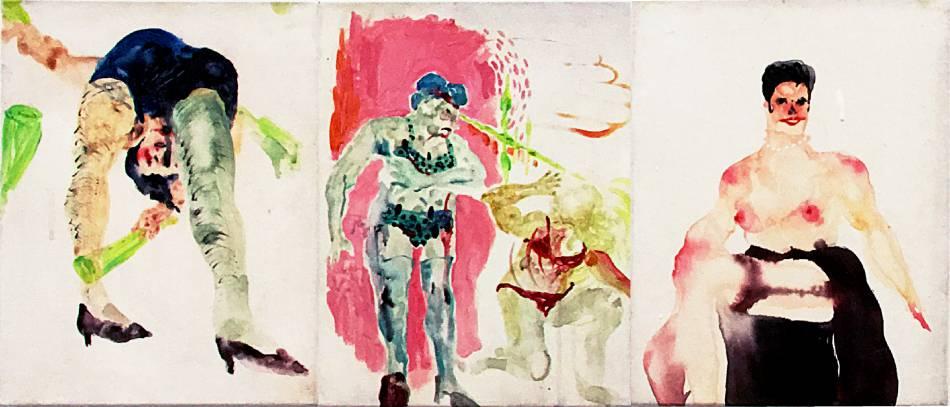 溫佳寧《怪獸骨粉》,2015,壓克力顏料、畫布, 27 x 35 cm x 3