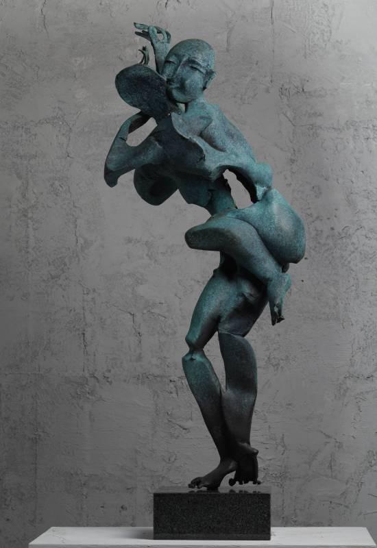 太極  35x32x82cm,Bronze,2013