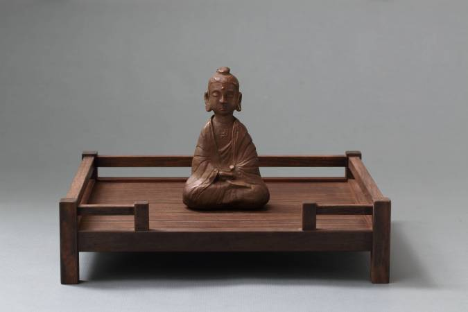 許志強 佛像、座 磷青銅、黑檀木 2017
