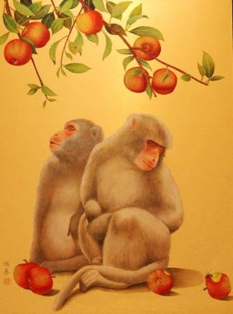 2010 封侯圖 72.5×53.0 cm 膠彩絹本