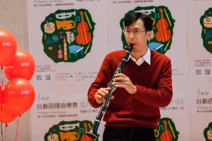 透鳴單簧管重奏團 章晏肇。圖/台新圓環音樂祭提供。