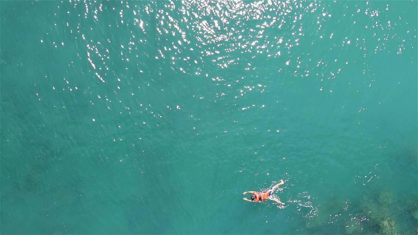在海面上的游泳者-1 The swimmer I|單頻道錄像,彩色,無聲Single channel video, color, silent|14min 27sec|2017