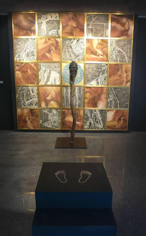 涂維政 《悟》 平面部分288×288㎝  雕塑181㎝  2010重製