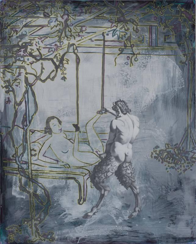 蘇孟鴻 《潘與潘Pan & Pan》162 x 120 cm  2012