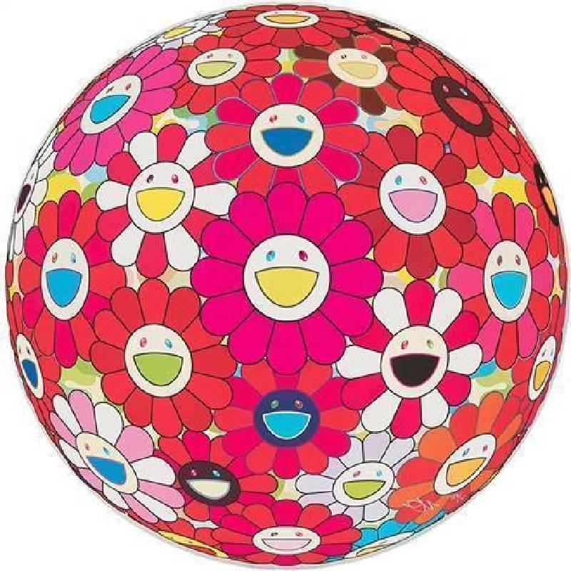 FlowerBall(3D) 2013 膠板版畫(300版) 直徑71cm 村上隆  Takashi Murakami