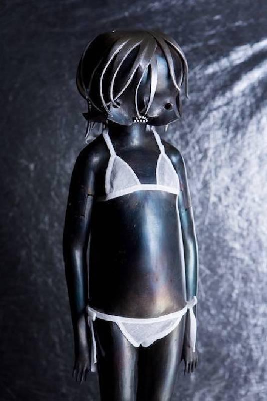 遠離大海的現象-7 2014 鐵件 / 紗布 65.3×17.8×16 cm 藤井健仁  Takehito Fujii