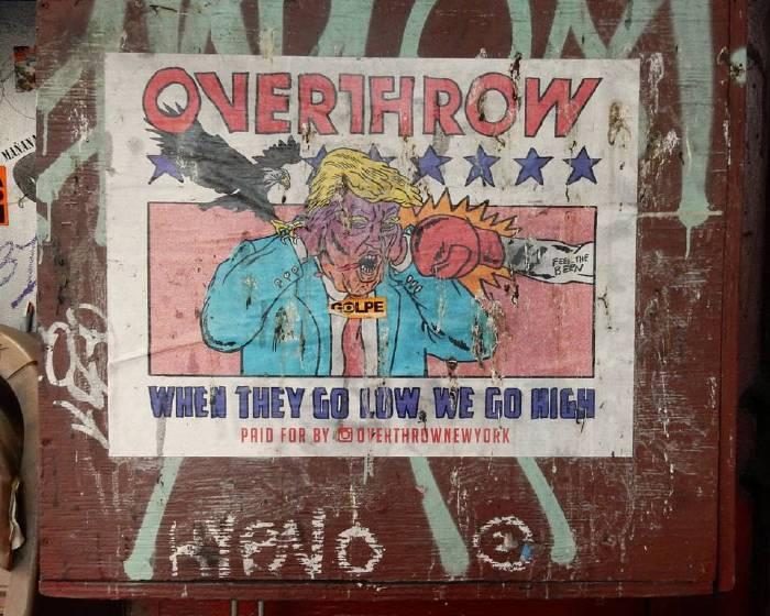 紐約街頭的反川普藝術一周年紀念