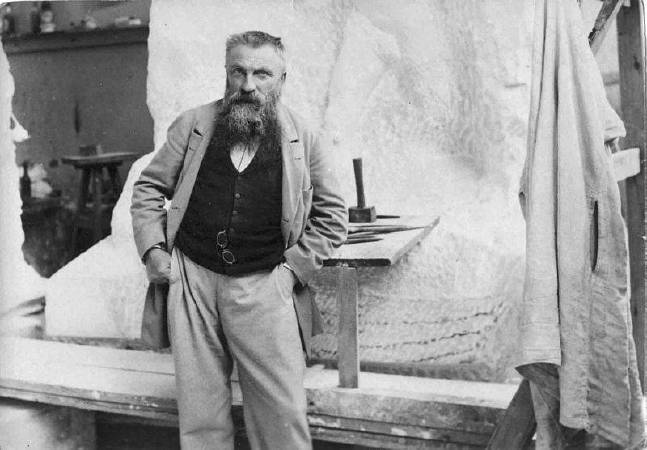 Auguste Rodin。圖/取自Wikipedia。