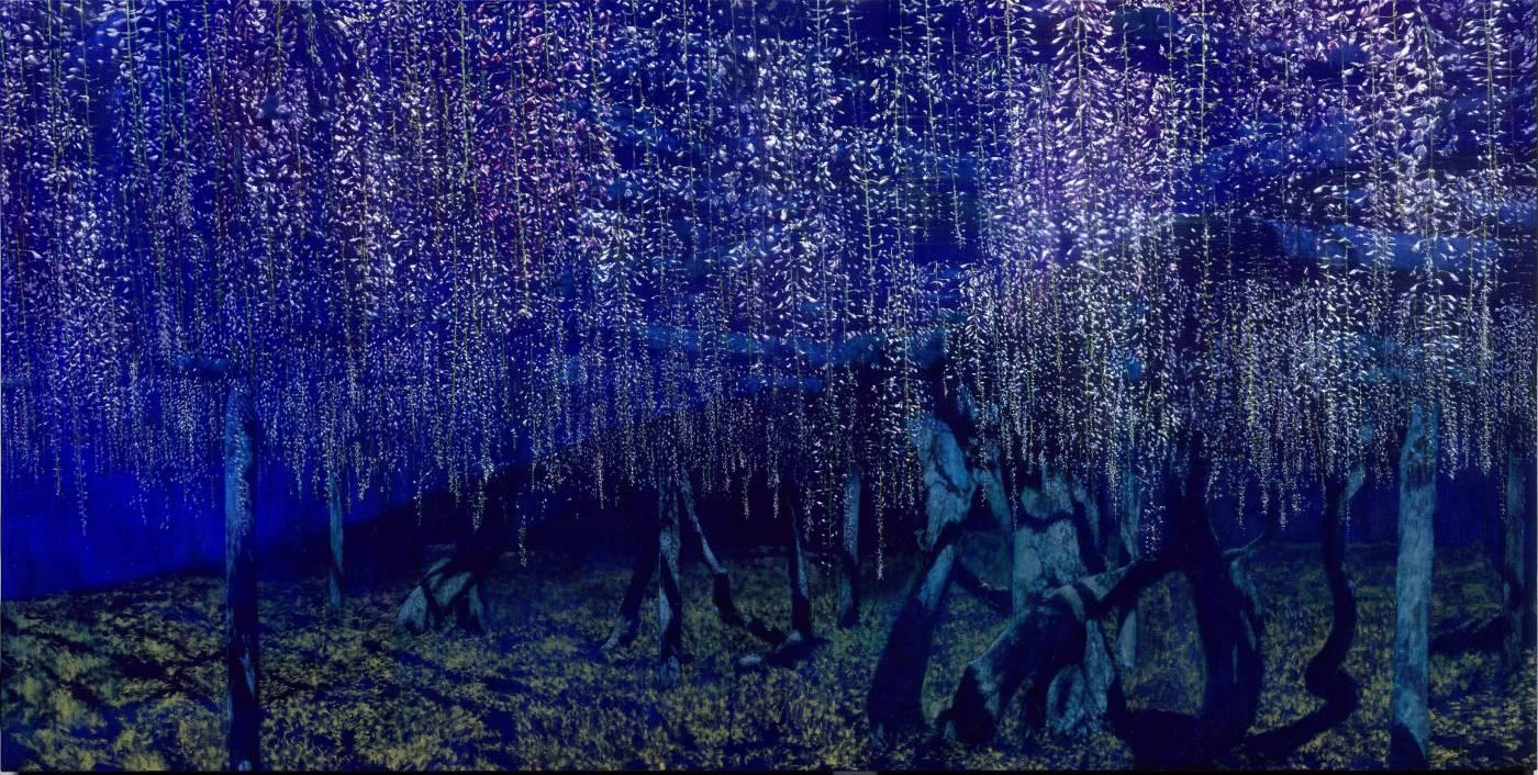 《小滿 - 含苞》油畫 194x97cm 2017