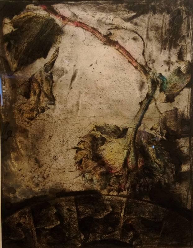 梁兆熙 <素描>,1996,炭筆、粉彩於紙上,34x26.5cm
