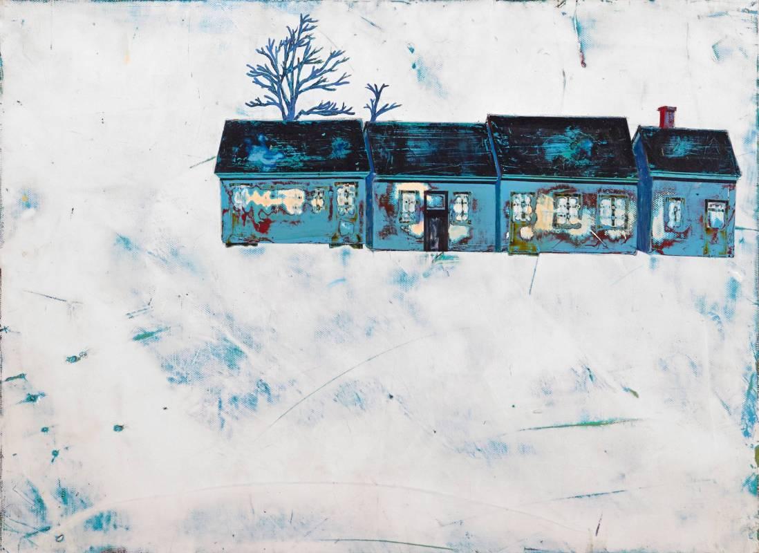 林晏竹   <忘記名稱的莊園>,2010,壓克力顏料、畫布,41x31.5cm