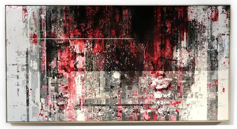 王建文,觀星者系列II-人口銳減,油彩、畫布,2017年。圖/ 非池中藝術網攝