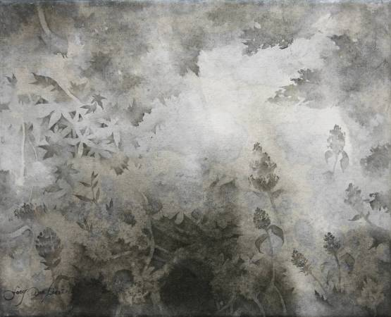 馮雯琳・〈夢〉・22x27cm・水墨紙本設色・2016