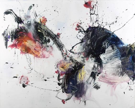 堉泉 Yu Chuan, Flowers Series No.22,80x100cm,油畫Oil on canvas,2016