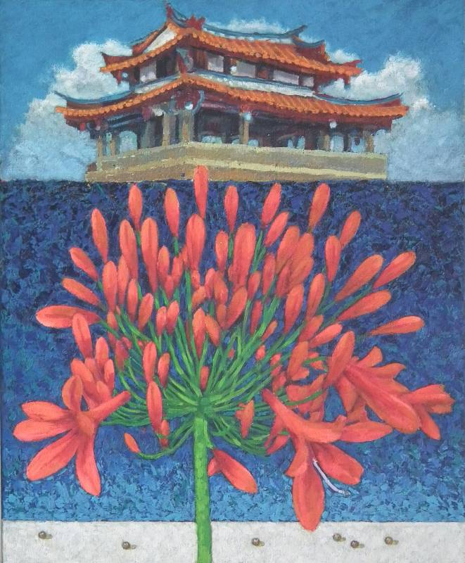 劉洋哲  愛情花-東門城 2017年 65×53cm 油彩畫布 / LIU Yang-Che Flower of Love-East Gate City 2017 65×53cm Oil on canvas