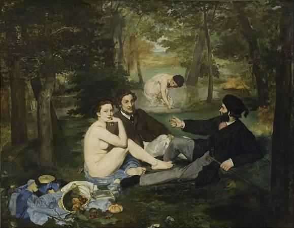 馬奈《草地上的午餐》(Luncheon on the Grass),1862-1863。圖/取自Wikipedia。