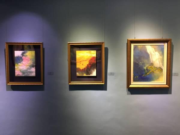 原顏藝術于傳騏彩墨個展。圖/非池中藝術網攝。