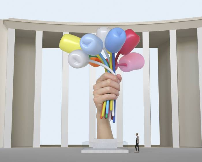 巴黎:我們不要這個免費的傑夫昆斯雕塑