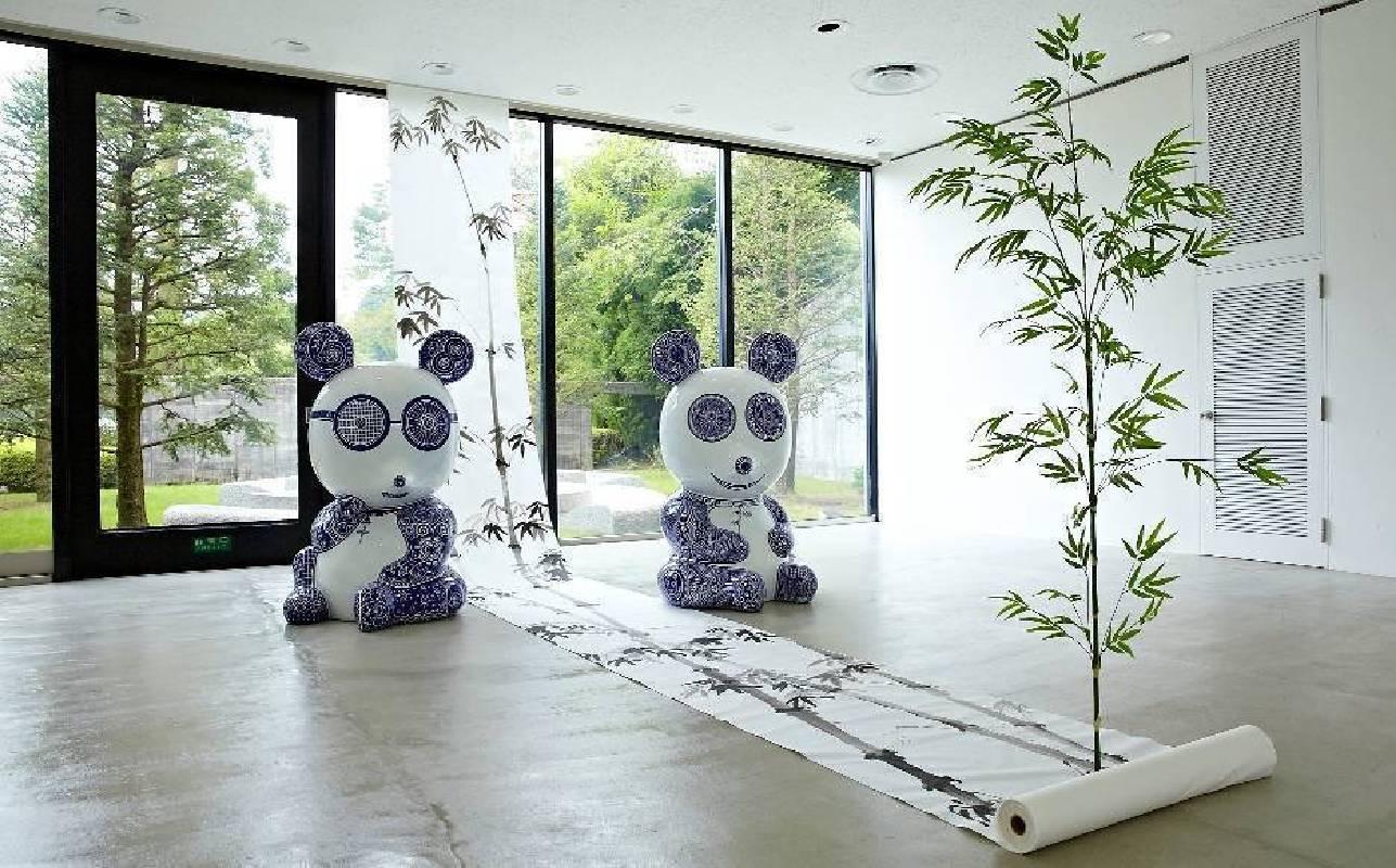 日本雕刻之森 室內裝置藝術與戶外互相呼應