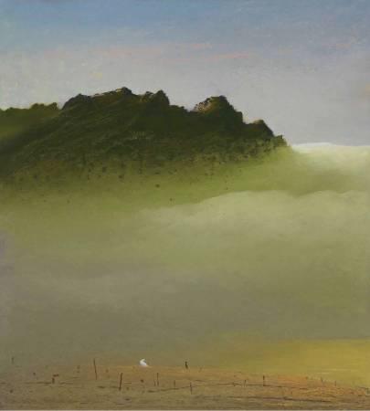 葉東進, 山之音系列803, 2018年, 83x75cm, 油彩蠟筆.紙 / YEH Tung-Jinn, Sound of mountains No.802, 2018, Oil sticks on paper