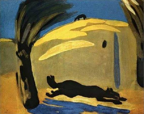 Martiros Saryan,《Running Dog》,1909。圖/取自wikipedia。