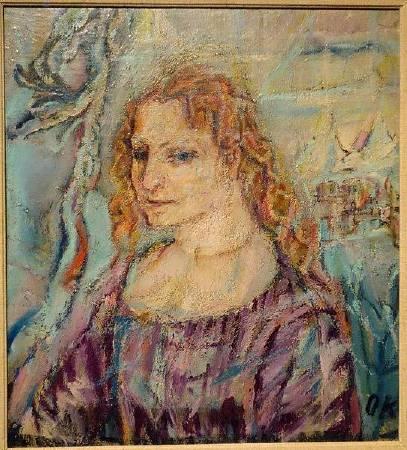 柯克西卡《Portrait of Alma Mahler 》,1912。圖/取自Wikipedia。