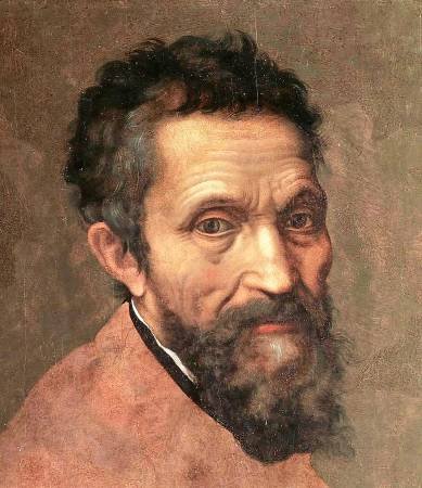Daniele da Volterra, 米開朗基羅肖像畫。圖/取自Wikipedia。