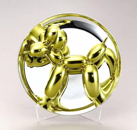 Balloon Dog (yellow) 氣球狗 (黃金)|2015|26.7 x 26.7 x 12.7 cm|Porcelain 陶瓷|© Jeff Koons