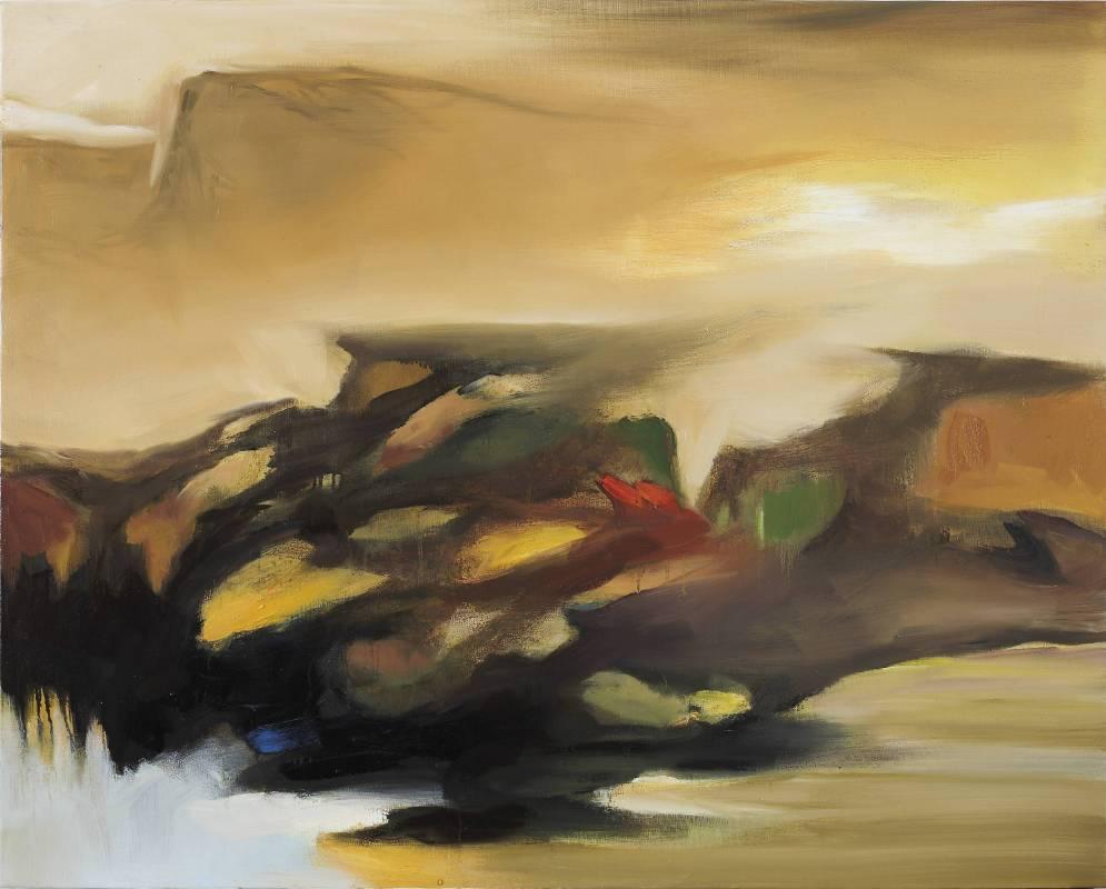 塵三Chen San│荒城 Deserted City│72.5x91 cm│油畫Oil  on canvas│2017
