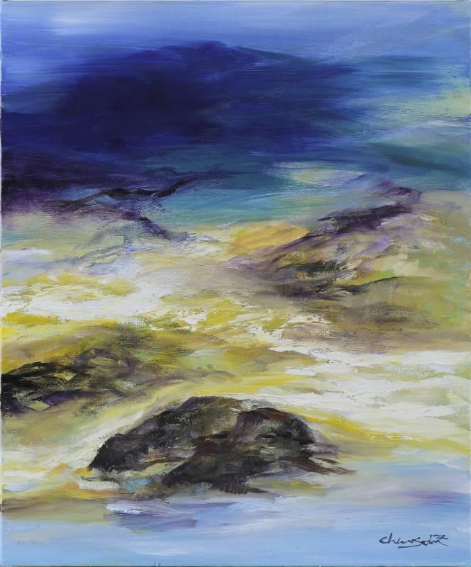 塵三Chen San│海韵Rhythm of the Wave │72.5x60.5 cm│油畫Oil  on canvas│2017