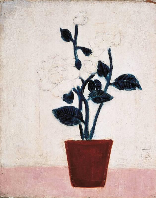 常玉,白玫瑰,1930s,油彩/畫布,41x33.5 cm