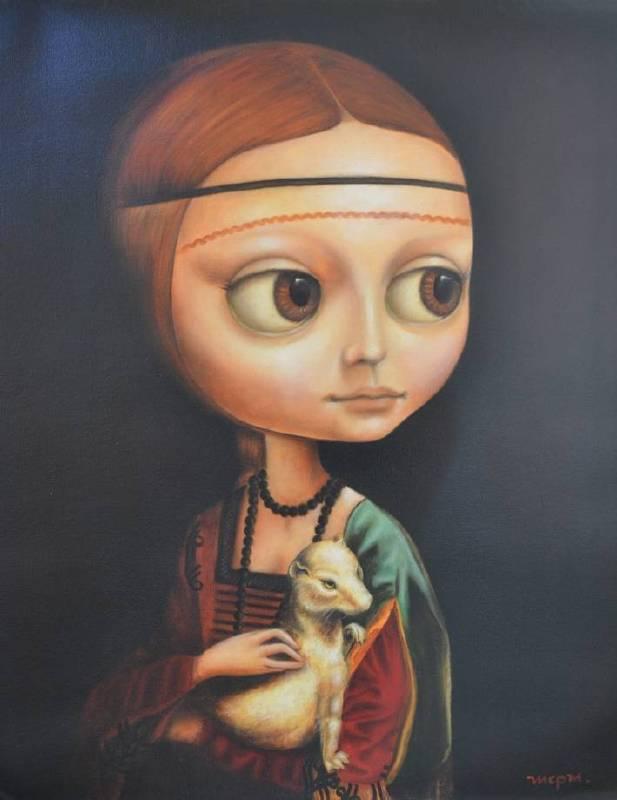 Maria Cecilia Perez Martin《His Lady》 油畫 45×55cm 2016 阿根廷