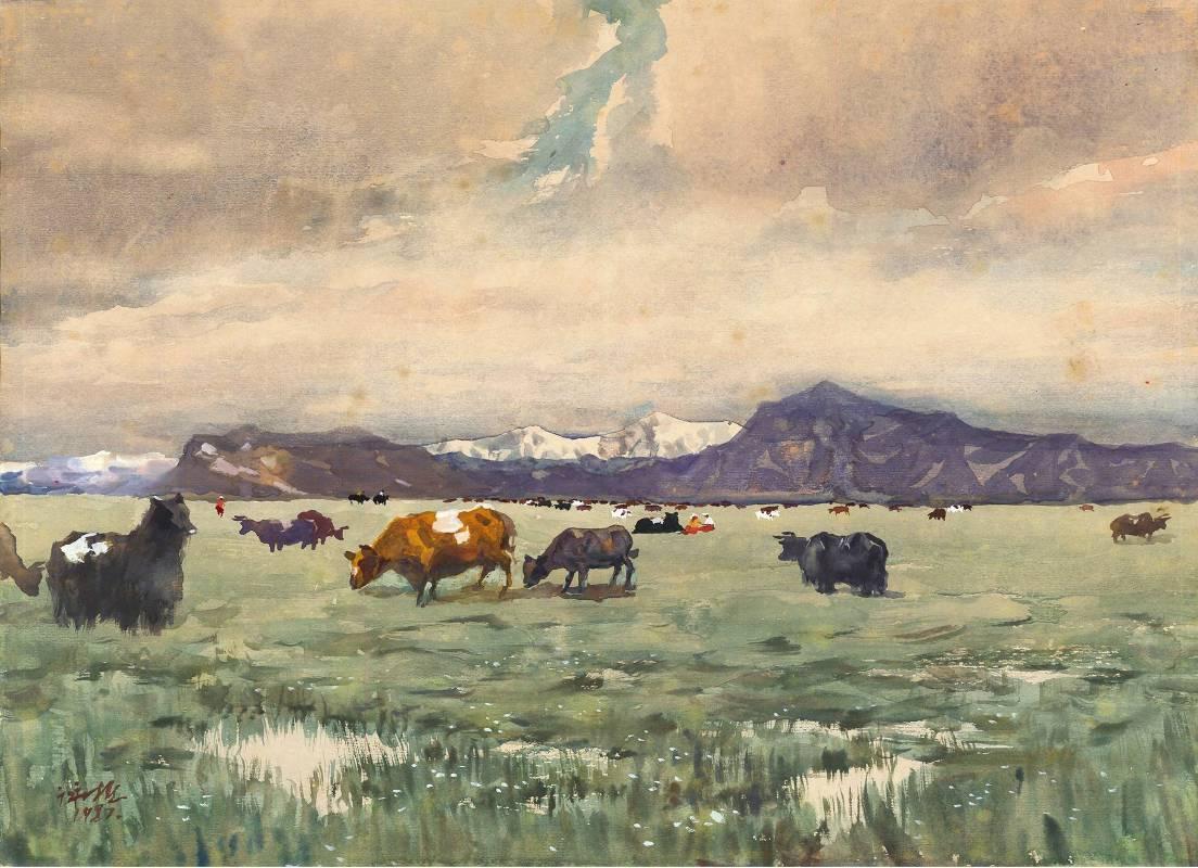杜詠樵  牧牛