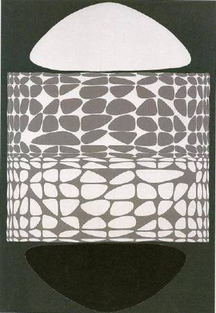 Victor Vasarely,《Meandres Belle-Isle》,1951。圖/取自wikiart。