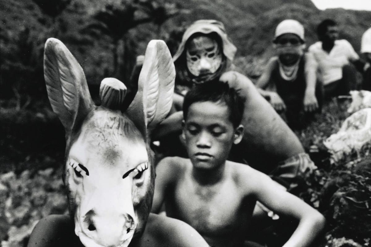 潘小俠《蘭嶼記事-馬頭與小孩》蘭嶼,1985