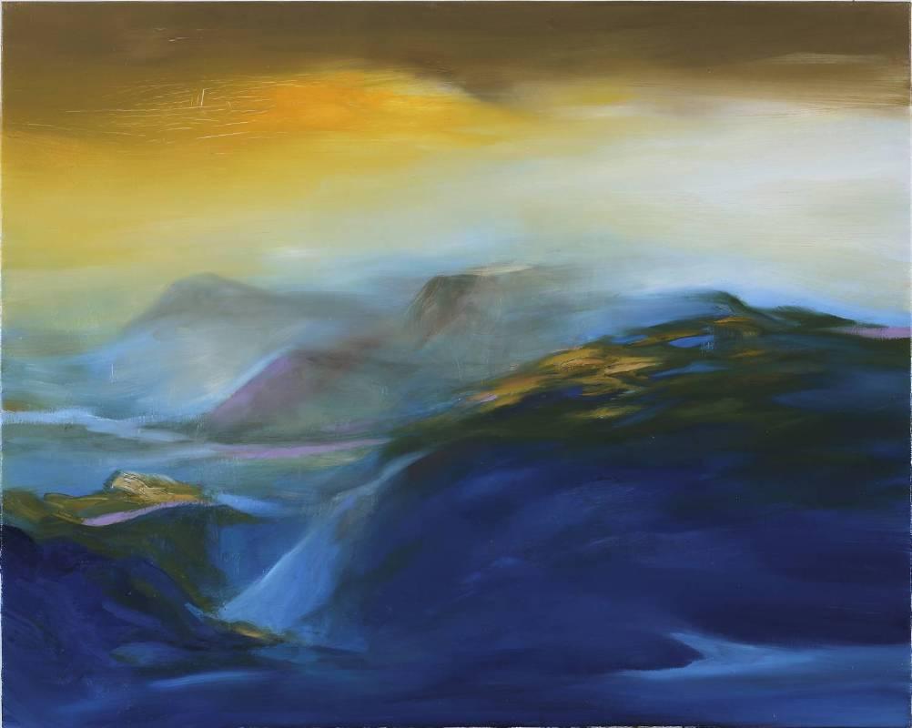 塵三Chen San│驪 Mountains│80x100cm│油畫Oil  on canvas│2017