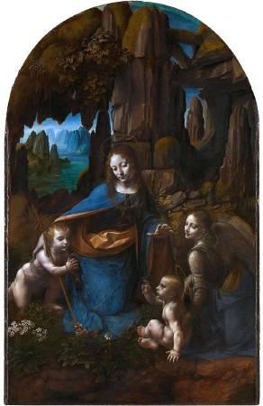 達文西《巖窟聖母》,約 1491。圖/取自Wikipedia。