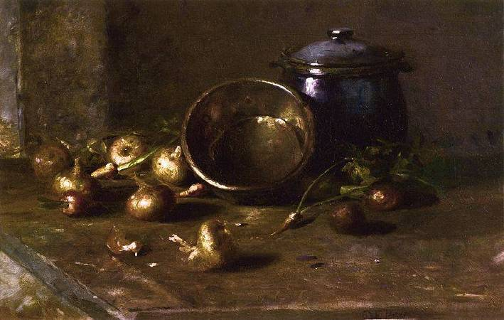 Charles Ethan Porter《Crock, Kettle and Onions》,1890。圖/取自Wikipedia。