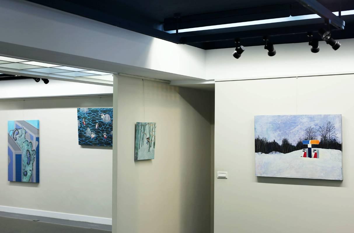 阿波羅畫廊 黃法誠個展 展場場景
