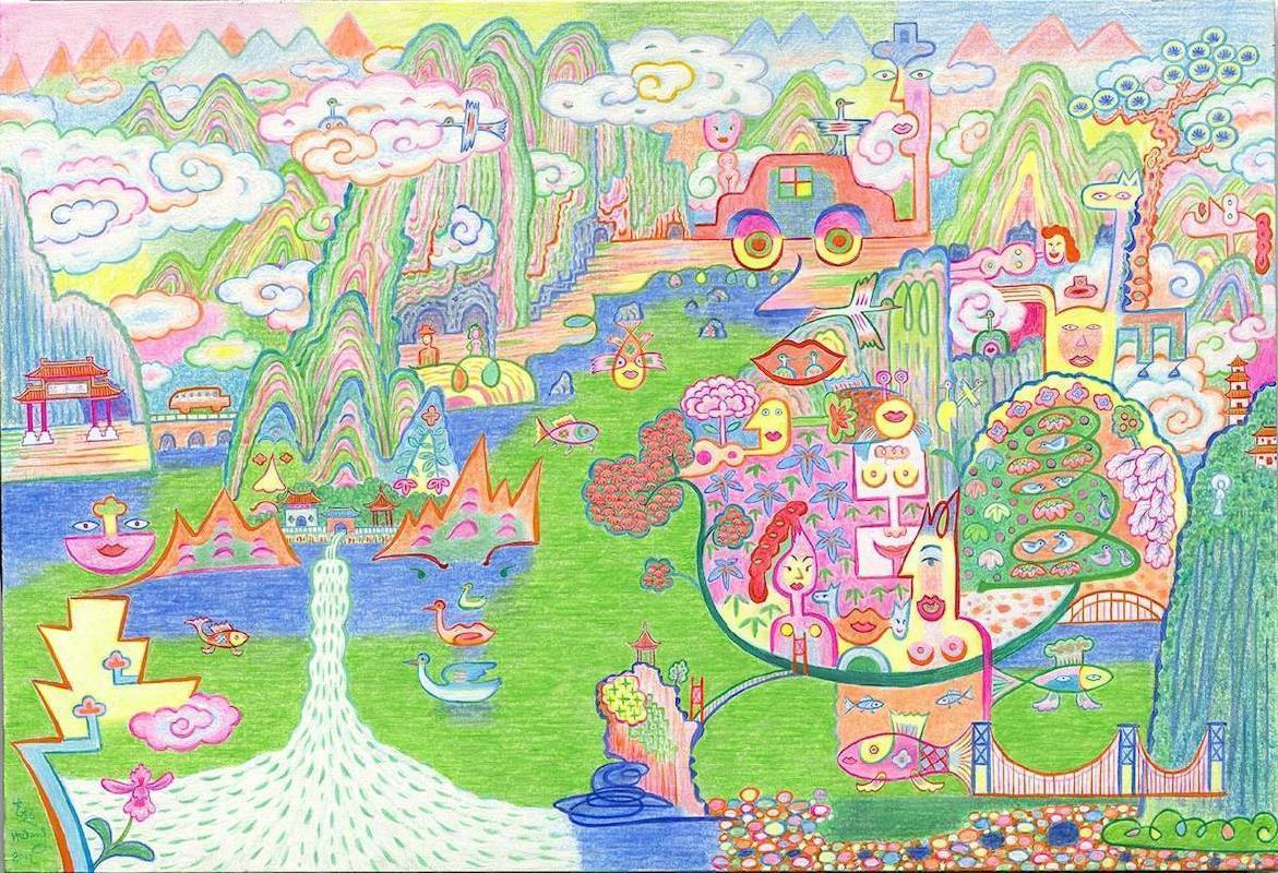 黃志超 太魯閣 2017 74.5×110cm 複合媒材 畫布
