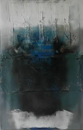 95-04, 時光的省思, 120x80cm, 複合媒材, 1995,
