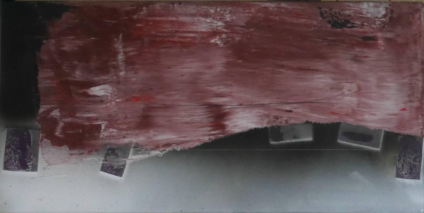 17-43, 格物系列二, 30x60cm, 複合媒材, 2017