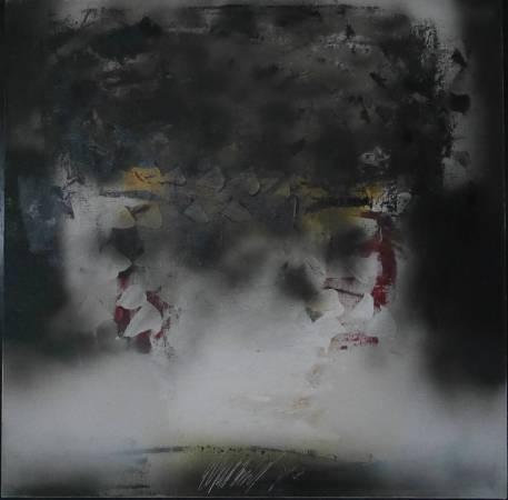 89–69, 時光的刻痕, 60X60cm, 複合媒材, 1989