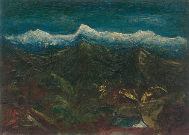 陳澄波 玉山積雪 1947 油彩木板 23.5×33cm