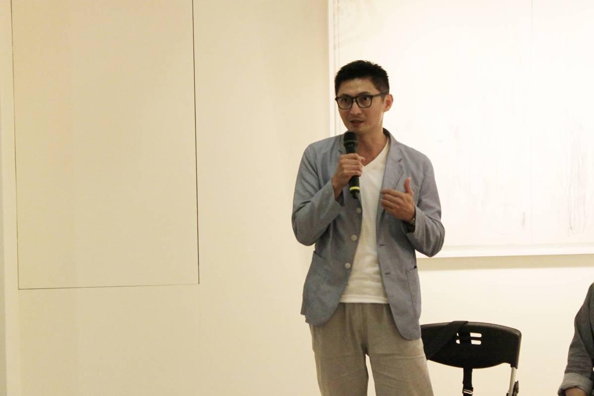 台灣當代抽象展~隱藏的視界策展人王公澤。 國璽藝術/提供