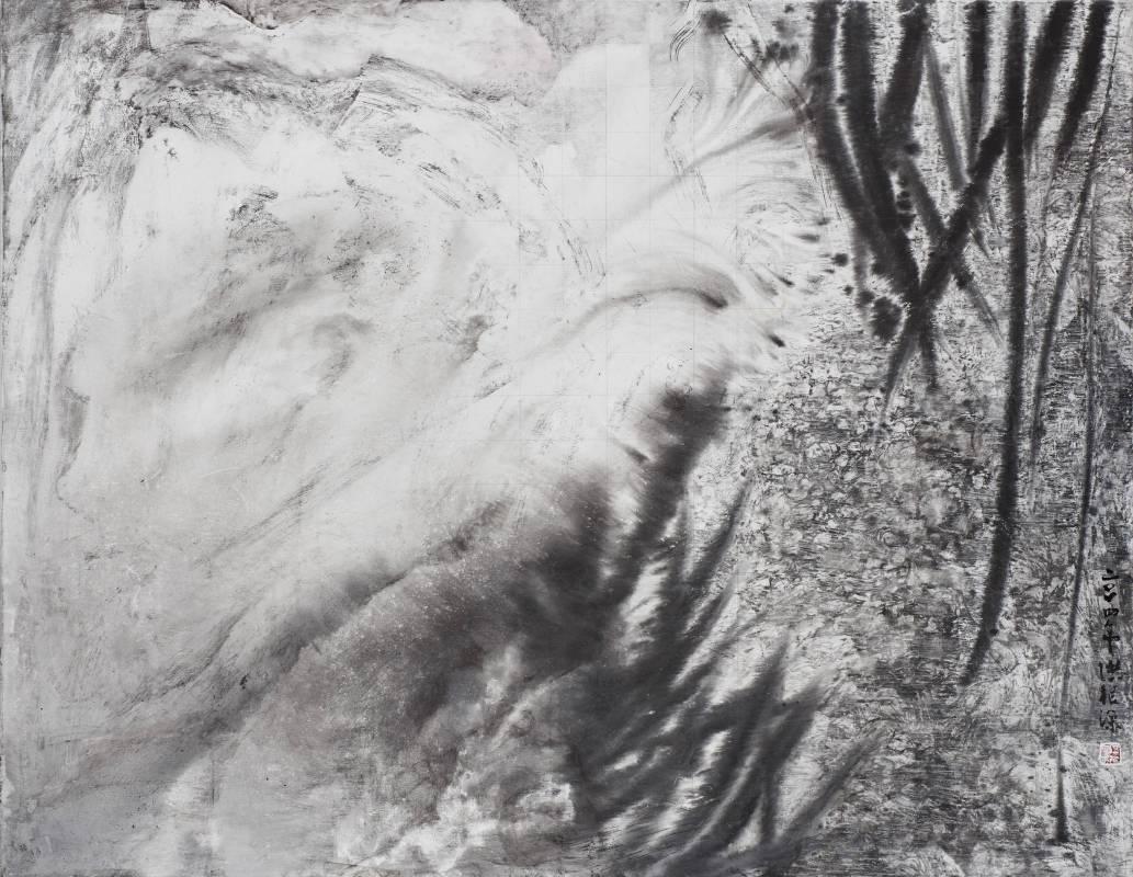 幽徑, 91x116cm, 壓克力彩、水墨、畫布, 2014