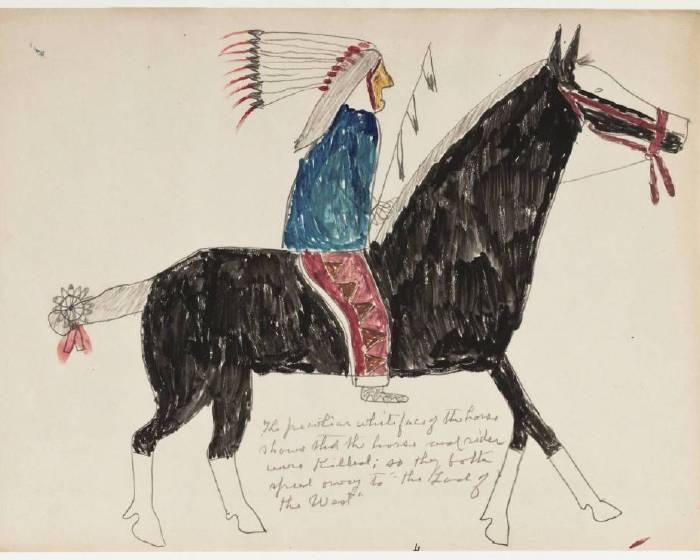 是繪畫也是日記──美紐伯里圖書館百年原住民畫作開放線上使用
