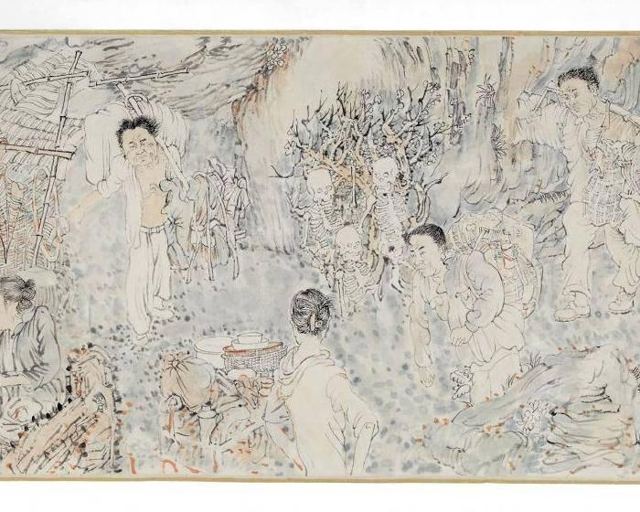 「謠言、戲語、報應」怪誕水墨中的社會寓言──季雲飛個展