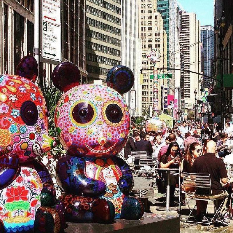 2016 美國紐約百老匯大道 眾多群眾熱鬧街景