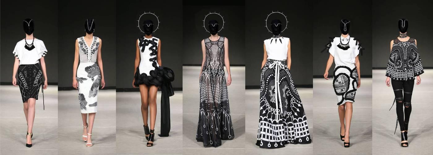 設計師沙布喇‧安德烈晚會時尚走秀呈現。圖/台北當代藝術館提供。